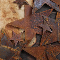 Rusty Tin Cutouts