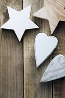Wooden Hearts and Stars