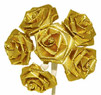 Gold Ribbon Roses