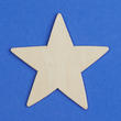 Unfinished Wood Star Cutout