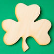 Unfinished Wood Shamrock Cutout