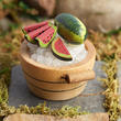 Miniatue Wooden Bucket with Ice Cold Watermelon