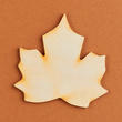 Unfinished Wood Maple Leaf Cutout