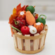 Dollhouse Miniature Fall Fruit and Vegetable Basket