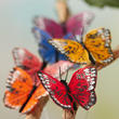 Assorted Jewel Tone Artificial Monarch Butterflies