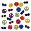 Tiny Retro Hippie Button Assortment