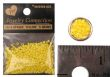 10/0 Opaque Yellow Glass Seed Beads