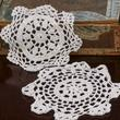 White Round Crocheted Doilies