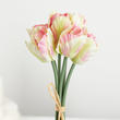 Cream and Pink Artificial Parrot Tulip Bundle