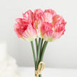 Variegated Pink Artificial Parrot Tulip Bundle