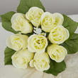 Cream Artificial Rose Bundle