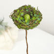 Mossy Artificial Bird's Nest Pick