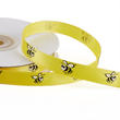 "3/8"" Yellow Bee Printed Satin Ribbon - 25 yards"