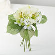 Cream Artificial Rose, Hydrangea, and Daylily Bundle