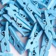 Miniature Blue Wood Clothespins