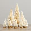 Assorted Frosted Cream Bottle Brush Trees