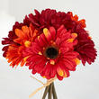 Red and Orange Artificial Gerbera Daisy Bouquet
