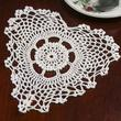 White Heart Crocheted Doily
