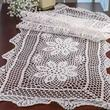 White Crocheted Doily Table Runner