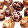 Assorted Printed Wood Pony Beads