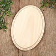 Unfinished Oval Wooden Plaque