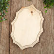 Unfinished French Oval Wooden Plaque