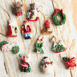 Miniature Holiday Polystone Ornaments