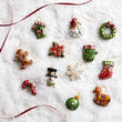 Miniature Pearlized Holiday Ornaments