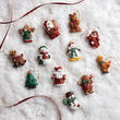 Miniature Glittered Christmas Ornaments