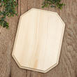 Unfinished Beveled Wooden Plaque