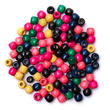 Multicolored Wood Pony Beads