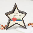 """Star Teacher"" Chunky Wood Star"