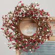 Red, White, and Green Pip Berry Wreath