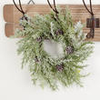Snowy Artificial Cypress Pine Wreath