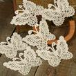Ivory Butterfly Doily Appliques