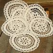 Ivory Round Crocheted Doilies