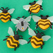 "Dress It Up ""Bee Happy"" Buttons"