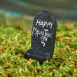 "Miniature ""Happy Haunting"" Tombstone"