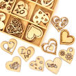 Unfinished Wood Laser Cut Romantic Heart Cutouts