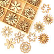 Unfinished Wood Laser Cut Flower Cutouts