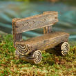 Miniature Log Bench