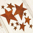 Assorted Primitive Rusty Tin Stars