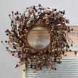 Black and Tan Pip Berry Wreath