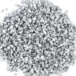Metallic Silver Crushed Glass Chips