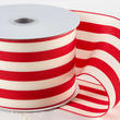 Red and White Striped Ribbon