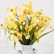 Yellow Artificial Alstroemeria Bush