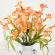 Orange Artificial Alstroemeria Bush