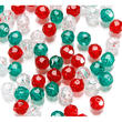 Transparent Christmas Round Faceted Beads