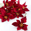 Burgundy Velvet Artificial Poinsettia Picks