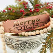 "Copper ""Merry and Bright"" Ornament Sign"